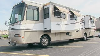 2003 Holiday Rambler Endeavor 40PBDD class A diesel motorhome camper walk-around tutorial ...
