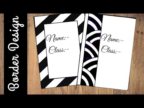 Paper Border Designs For Projects Black And White Dresses