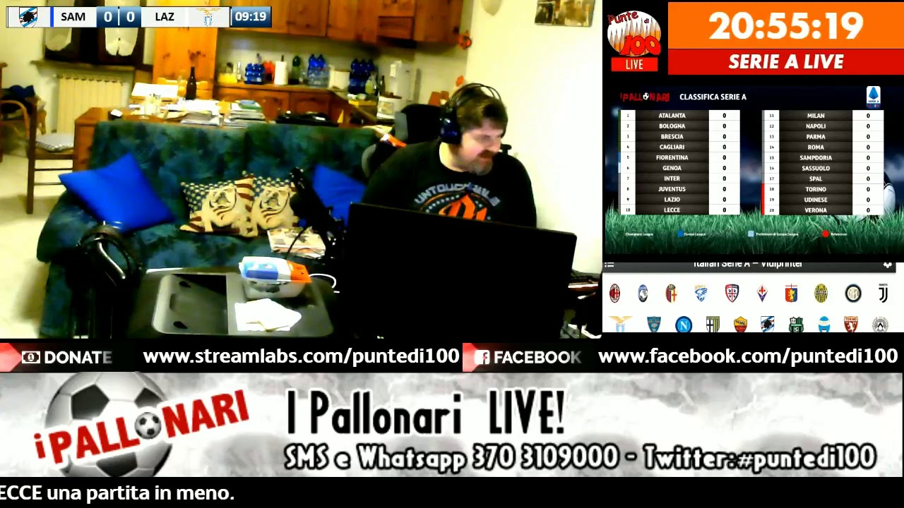I Pallonari Live Reaction 1 Giornata Serie A Tim 2019 20 Youtube