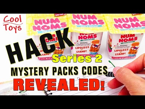 NUM NOMS Series 2 HACK CODES REVEALED Mystery Packs Blind Box - CoolToys