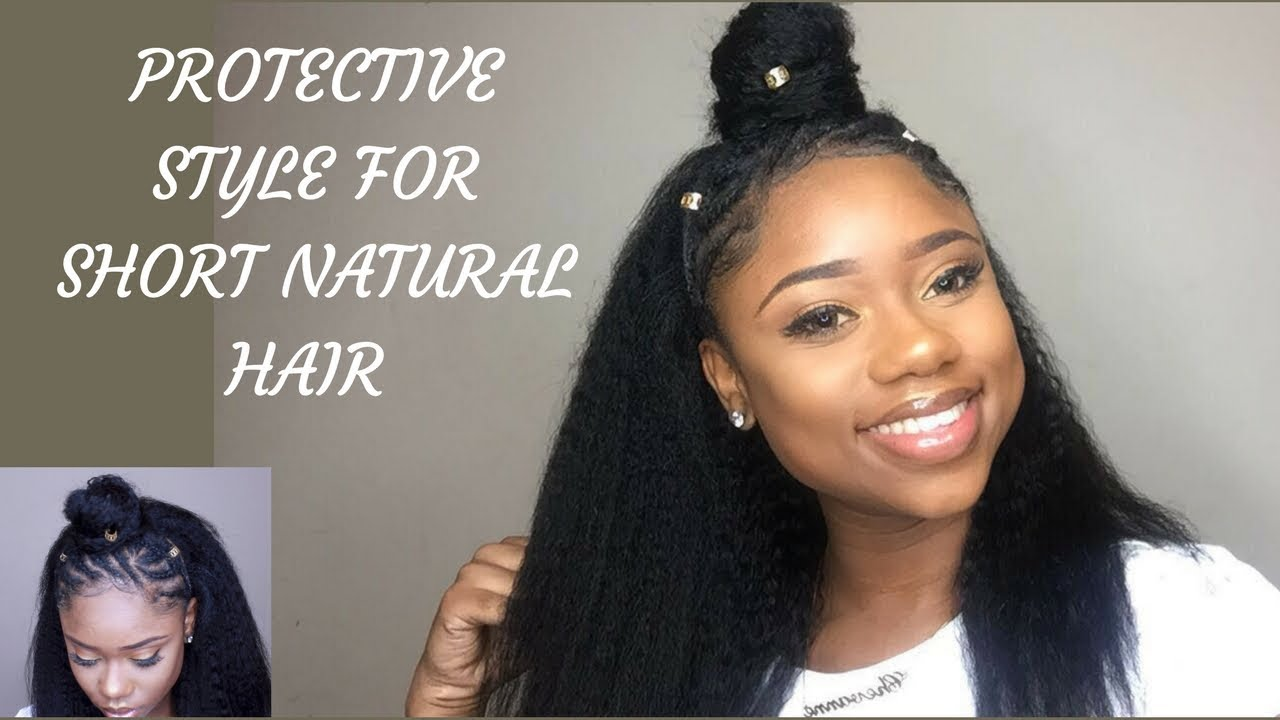 Quick Natural Hair Styles: QUICK AND EASY PROTECTIVE HAIRSTYLE FOR SHORT NATURAL 4c/b