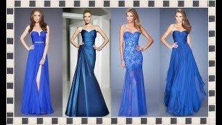 25246d0014 impresionantes vestidos casual color azul de moda