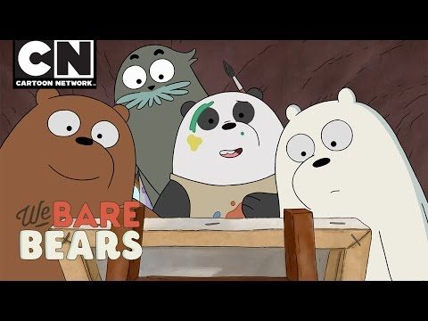 We Bare Bears | Panda Paints | Cartoon Network