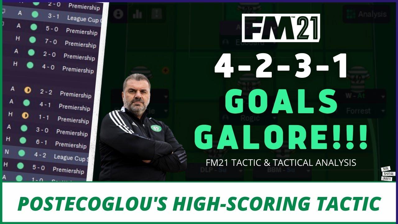 Download GOALS GALORE 4-2-3-1   High-Scoring Postecoglou Celtic Tactic   Best FM21 Tactics