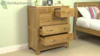 Galway Solid Oak 6 Drawer Chest From Oak Furniture Land
