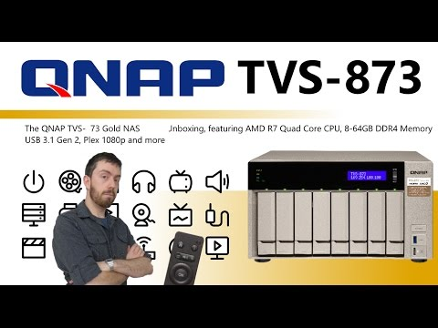 The QNAP TVS-873 Gold NAS AMD 8-Bay Unboxing Video - Is this the best Plex NAS I have seen yet