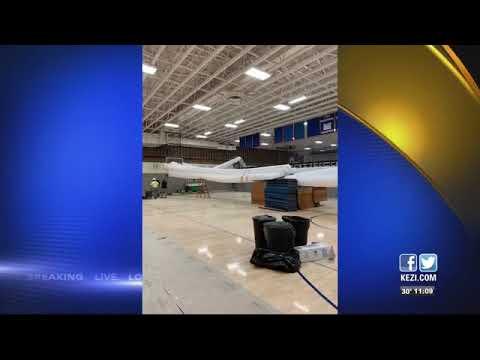 Winter storm damages Sutherlin high school gymnasium