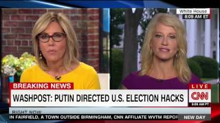 CNN Asks Kellyanne Conway Five Times What POTUS is Doing to Stop Election Hacking - No Answer