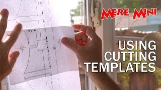 Using Cutting Templates & Spray Adhesive | Mere Mini