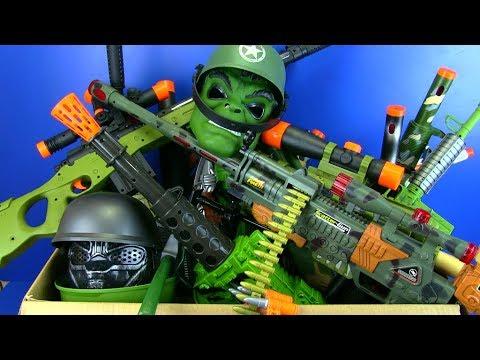 Lights Up /& Stand Moving Barrel Kids Boys Fanthom 3 Toy Machine Gun With Sounds