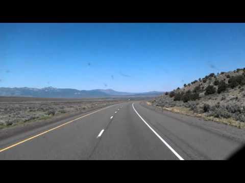 Interstate 15 North near Beaver, Utah (2011 archived video)