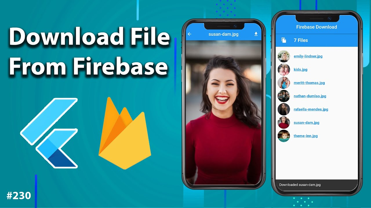 Flutter Tutorial - Download Files From Firebase Storage - Download Images, Videos, Files [2021]