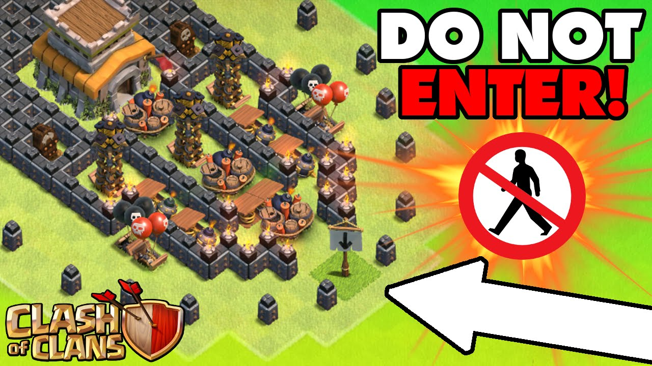 clash of clans epic troll base no man s land town hall 8