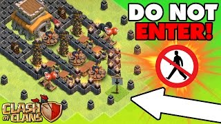"Clash Of Clans | EPIC TROLL BASE ""No Man"