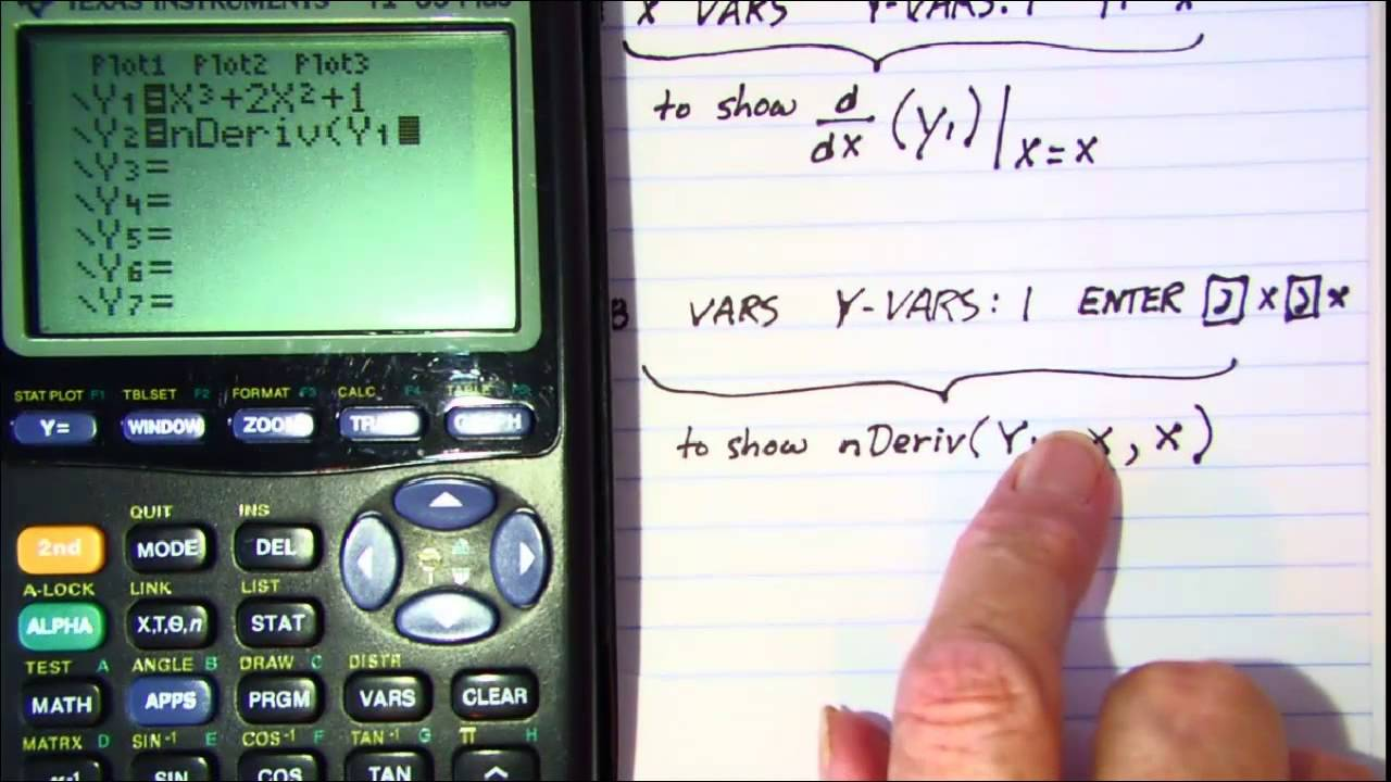 how to find the derivative on a calculator
