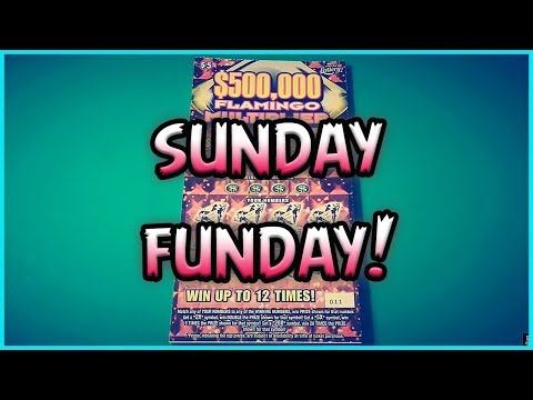 SUNDAY FUNDAY!! (6) $5 Flamingo Multiplier - Florida Lottery Scratchers