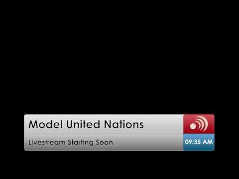 Model United Nations Live News Broadcast