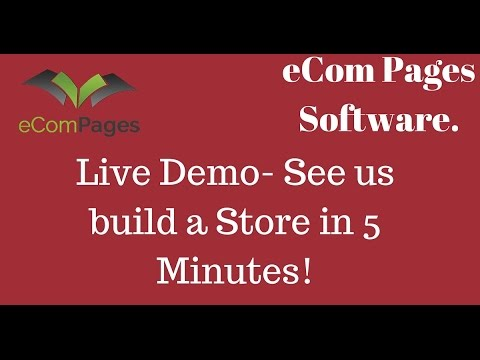 eCom Pages Live Demo - Building a Store in 5 Minutes: eCom Pages Live Demo - Build a store in 5 Mins  Click here for more information https://www.youtube.com/watch?v=E_2  Click for Bonus Page: http://adamsvip.com/ecompages-mastery...  What Is eCom Pages?  eCom Pages is the world's first drag and drop shopify store builder based on the cloud. It allows anyone, regardless of skill level or experience to build out highly profitable shopify stores in just a matter of minutes.   A lot of people struggle to set up their own shopify stores when doing it all manually, however with eCom Pages, they can customise and use our proven templates to generate profitable stores with just a few clicks of the mouse. Lets just say this is the Optimise Press of eCom.   UPSELL #1 is the eCom MasterClass Video Course  eCom Masterclass is a video course by seven-figure Shopify and eCom marketer Mohamed Ali Aguel who teaches you from A-Z how to build a completely sustainable e-commerce business. This course is MUCH a more extensive course than our first flagship course
