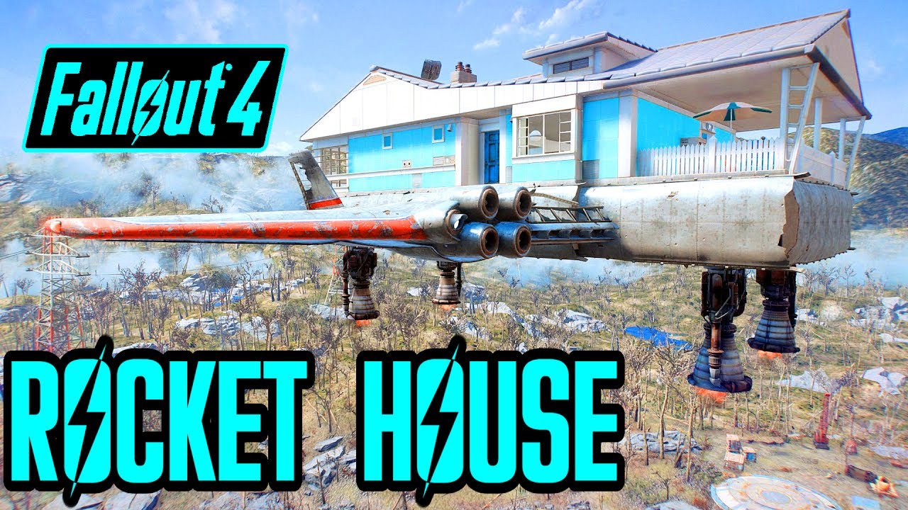 Fallout 4 Quest Mod - Rocket House Blues - Flying House?! - PS4, Xbox, & PC  Mod