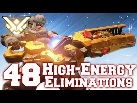 Grand Master Overwatch / HIGH-ENERGY Zarya [48/49 Elims Hi-Energy] RIP (2) Gravs