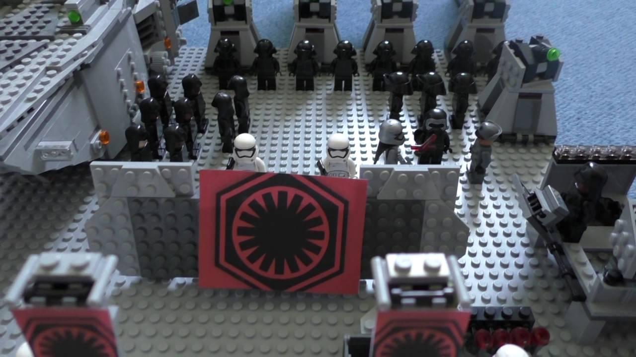 Premier ordre armee lego star wars update 2 youtube - Croiseur star wars lego ...