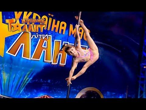 Pole Dance by little girl - Got Talent 2017