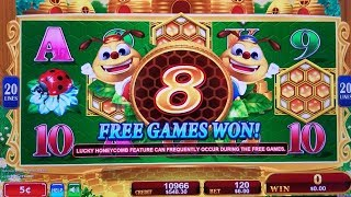 Lucky Honeycomb Twin Fever Slot $6 Bet BONUSES Won !! | GREAT SESSION | Live Konami Slot Play w/NG