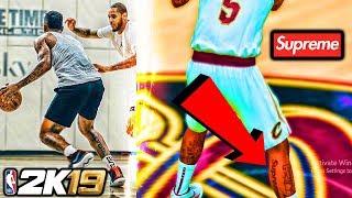 JR SMITH'S BANNED SUPREME LOGO LEG TATTOO IN NBA 2K19