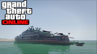 GTA 5 Online SHOWCASE OF THE BRAND NEW SUPER YACHT! INTERIOR & HOW TO CONTROL/DRIVE IT!