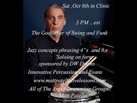 Mike Clark Clinic at Matt Patellas Drum Studio Oct 8th.2016