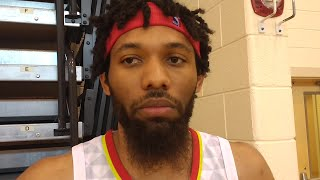 DeAndre' Bembry talks about Hawks picking up his contract option