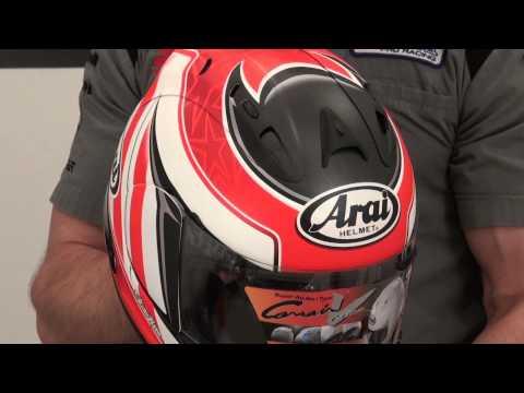 Arai Corsair V Nicky 3 Stars Helmet Video Review from SportbikeTrackGear.com