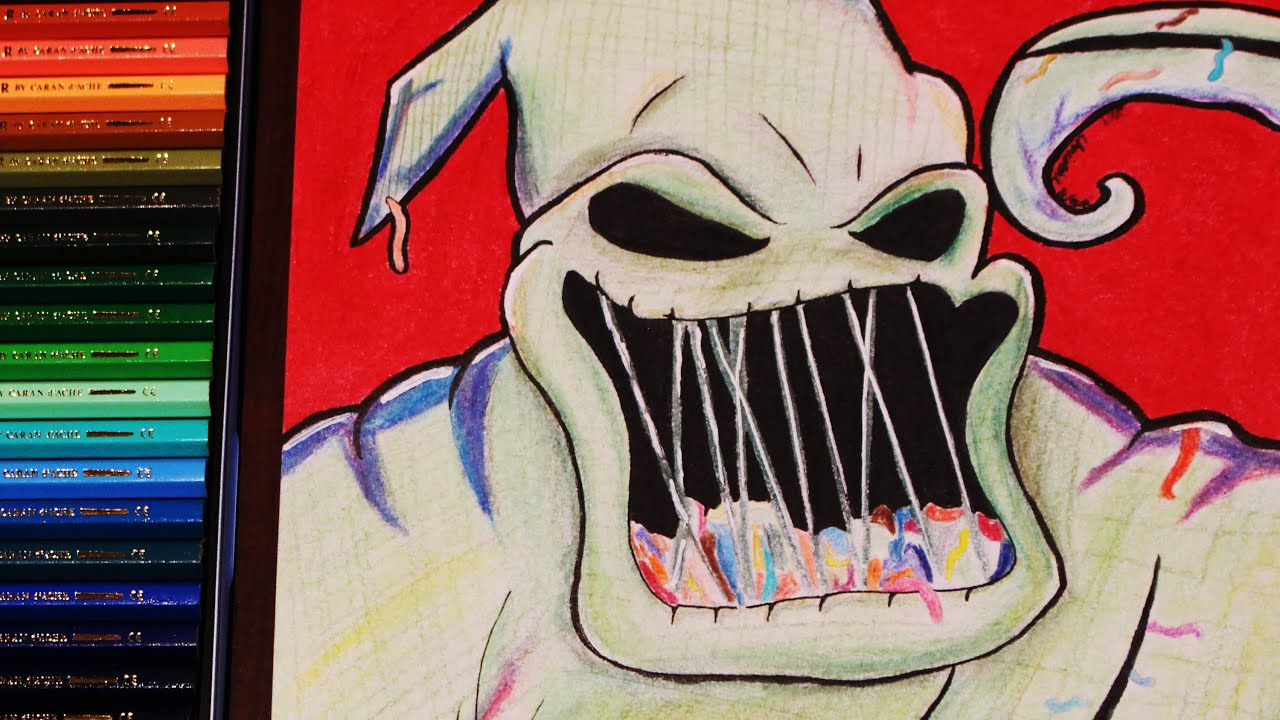 Oogie Boogie - Nightmare Before Christmas Color Pencil Drawing - YouTube