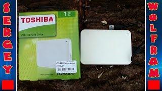 Жорсткий диск зовнішній Toshiba 2.5'' 1TB (HDTP210EW3AA) розпакування на майбутніх дровах