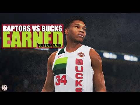 NBA Live 19: Raptors vs Bucks - 4th | Patch Update 1.16
