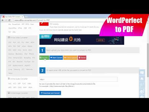 How to Convert WordPerfect to pdf