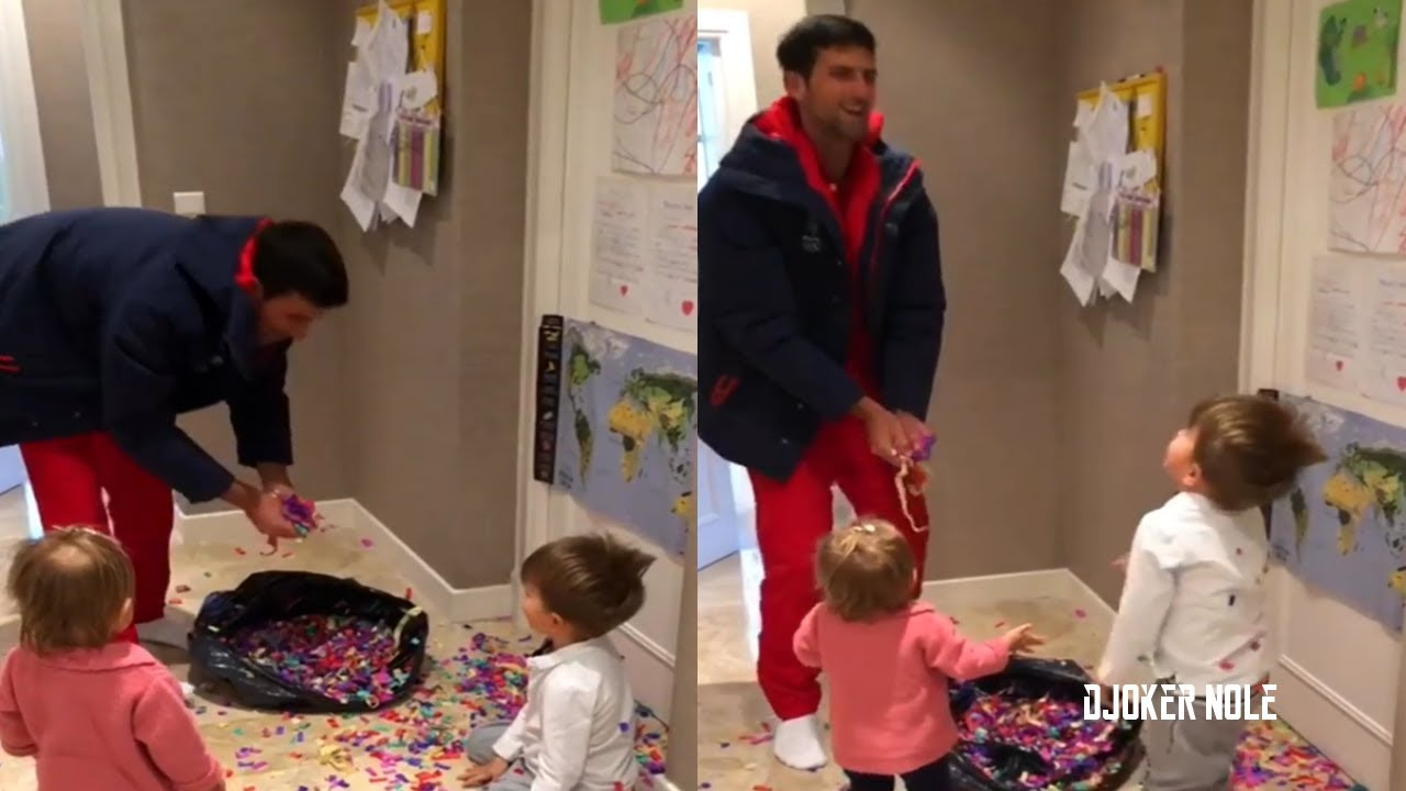 Novak Djokovic With Son Daughter Beautiful Moment 2019 Hd Youtube