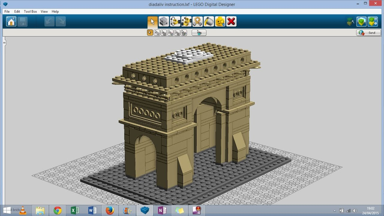 How to build your own lego Arch of Triumph with LDD instruction     How to build your own lego Arch of Triumph with LDD instruction   YouTube