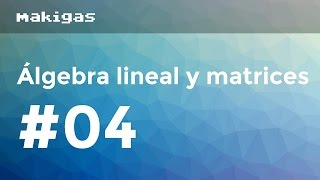 Álgebra lineal y matrices – 4. Dependencia lineal