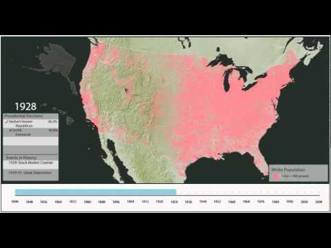 White Population Density, 1840 - 2000
