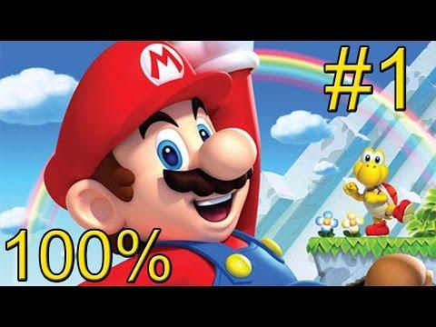 New Super Mario Bros U {Wii U} прохождение часть 1 — Долина Желудей #1 на 100%