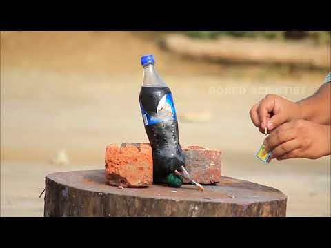 Coke Bottle vs Hydrogen Cracker Experiment in Super Slow Motion   Bored Scientist