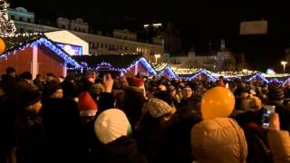 Новый 2015 год на Софийской площади в Киеве