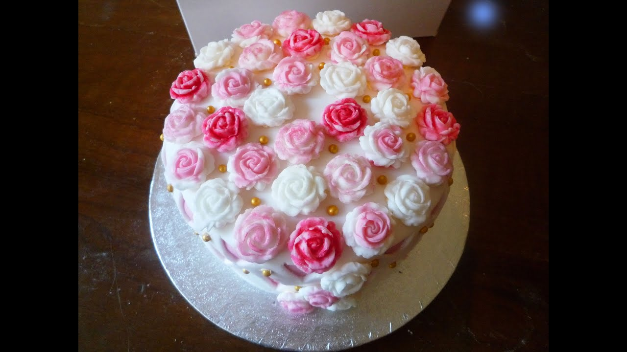 Cake Design For Mothers : Mother s Day Cake - YouTube