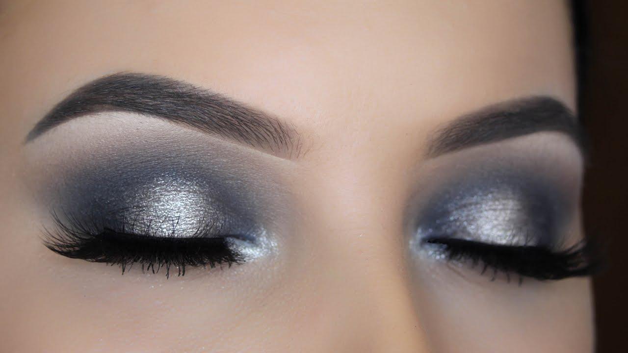Smokey Silver Halo Eye Makeup Tutorial Youtube