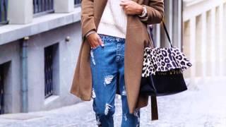 C чем носить джинсы бойфренды зимой?