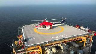 Heli landing Offshore production platform.mp4 thumbnail