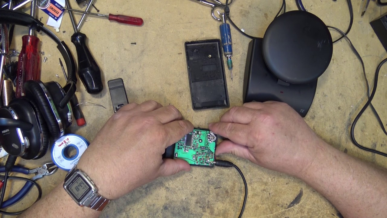 Recoton wireless headphone receiver repair
