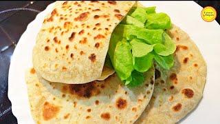 Пита на сковороде Лепешки без дрожжей Арабский хлеб Рецепт
