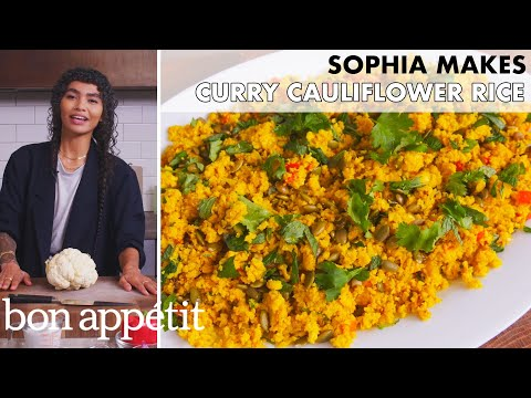 Sophia Makes Curry Cauliflower Rice | From the Home Kitchen | Bon Appétit